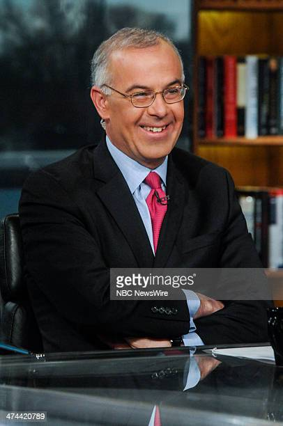 David Brooks New York Times Columnist appears on 'Meet the Press' in Washington DC Sunday Feb 23 2014