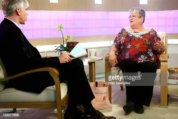 David Gregory and Karen Klein appear on NBC News' 'Today' show