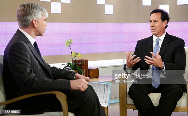 David Gregory and Rick Santorum appear on NBC News' 'Today' show