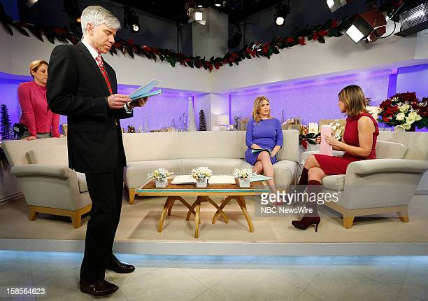 David Gregory Jenna Bush Hager and Savannah Guthrie appear on NBC News' 'Today' show