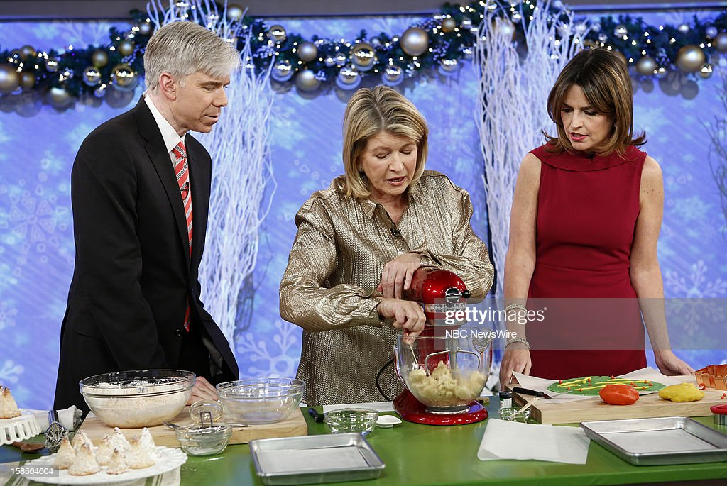 David Gregory, Martha Stewart and Savannah Guthrie appear on NBC News' 'Today' show --