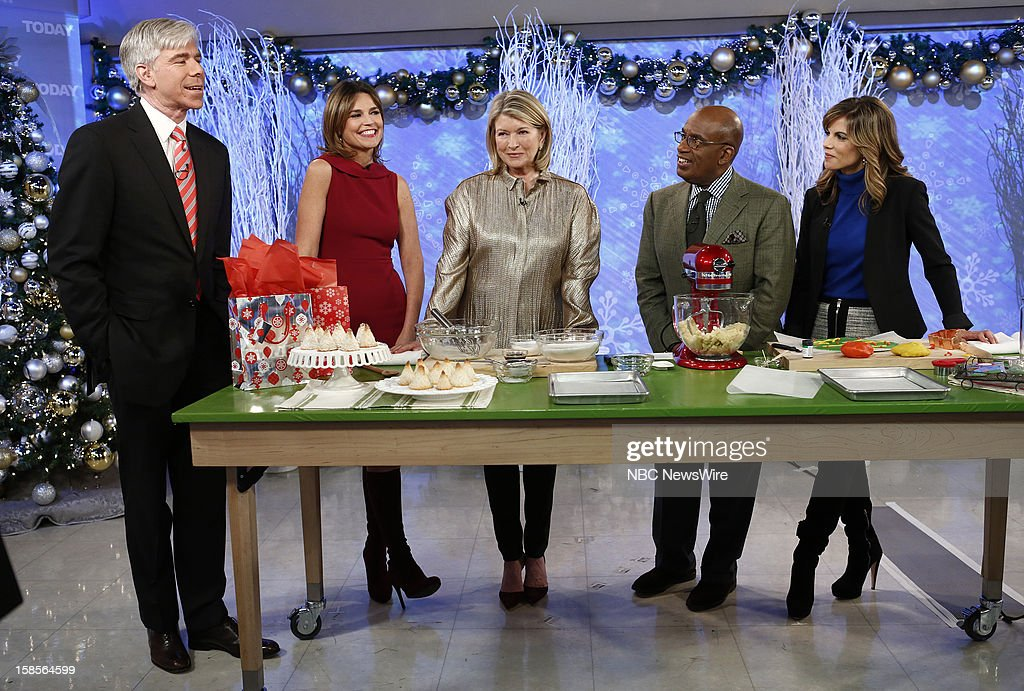 David Gregory, Savannah Guthrie, Martha Stewart, Al Roker and Natalie Morales appear on NBC News' 'Today' show --