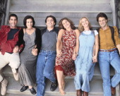David Schwimmer as Ross Geller Courteney Cox Arquette as Monica Geller Matt LeBlanc as Joey Tribbiani Jennifer Aniston as Rachel Green Lisa Kudrow as...