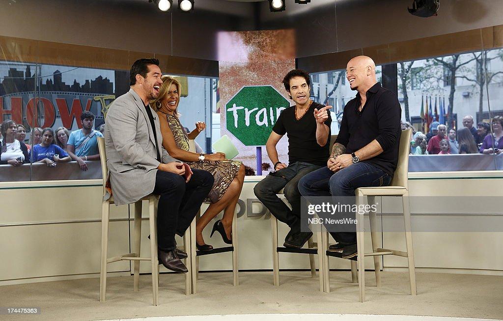 Dean Cain, Hoda Kotb, Pat Monahan and Jimmy Stafford appear on NBC News' 'Today' show --