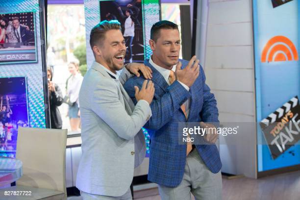 Derek Hough John Cena on Tuesday Aug 8 2017
