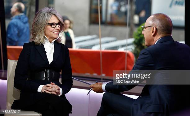 Diane Keaton Matt Lauer appear on NBC News' 'Today' show