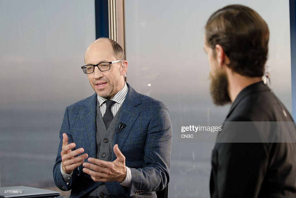 Dick Costolo and Jack Dorsey in an interview at CNBC's San Francicso bureau on June 12 2015