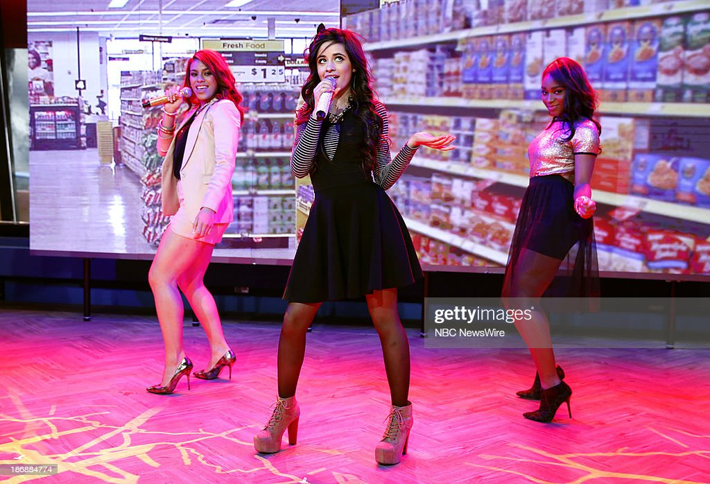 Dinah Jane Hansen, Camila Cabello, Normani Kordei Hamilton of musical guest Fifth Harmony appears on NBC News' 'Today' show on November 4, 2013 --