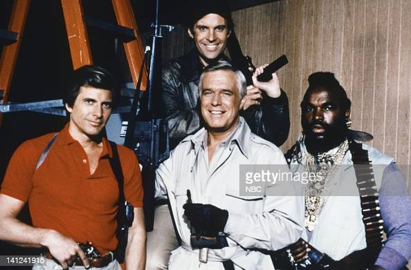 Dirk Benedict as Templeton 'Faceman' Peck George Peppard as John 'Hannibal' Smith Mr T as BA Baracus Dwight Schultz as 'Howling Mad' Murdock Photo by...
