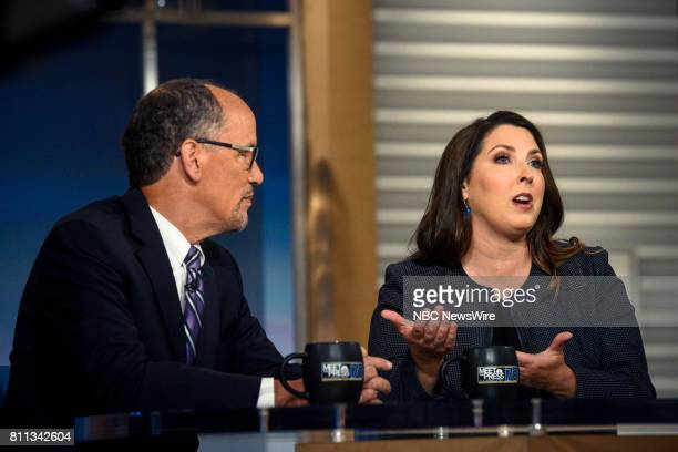 DNC Chair Tom Perez and RNC Chair Ronna McDaniel appear on 'Meet the Press' in Washington DC Sunday July 9 2017