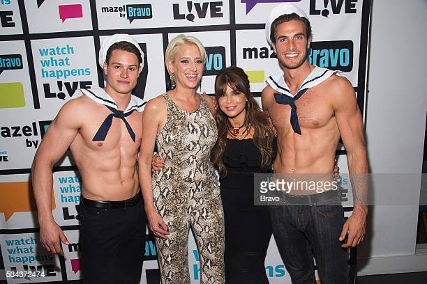 Dorinda Medley and Paula Abdul with sailor models