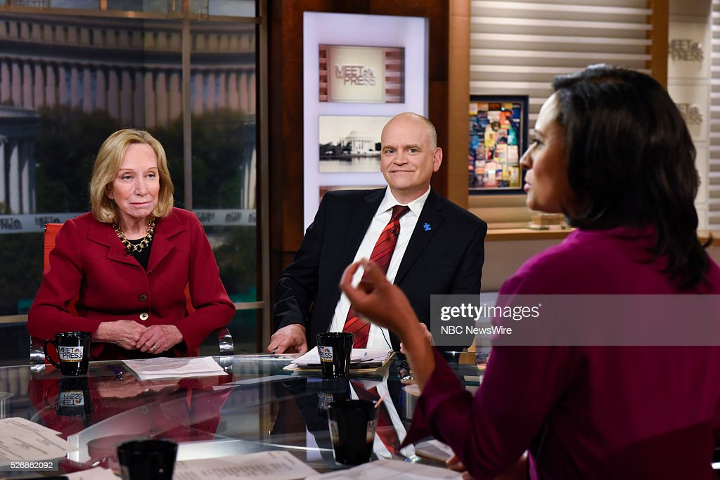 Doris Kearns Goodwin, American Biographer, Ron Fournier, Senior Political Columnist, National Journal, and Kristen Welker, NBC News White House Correspondent, appear on 'Meet the Press' in Washington, D.C., Sunday May 1, 2016.