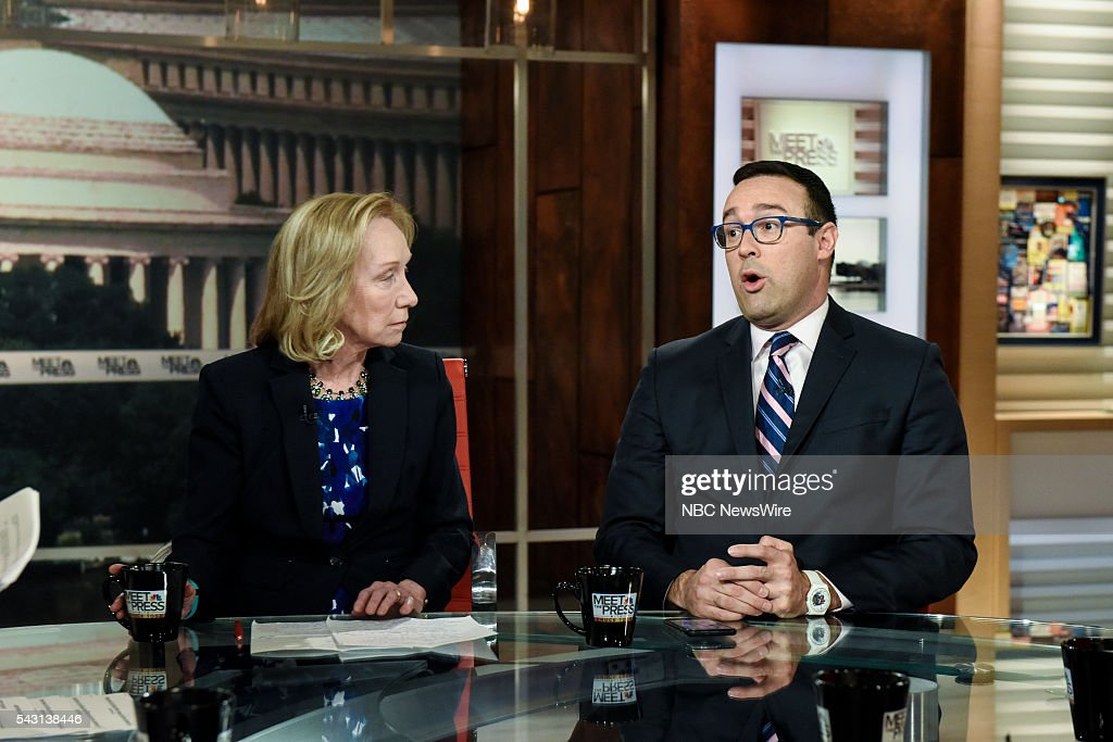 Doris Kearns Goodwin, Presidential Historian, left, and Chris Cillizza, Political Reporter, The Washington Post, right, appear on 'Meet the Press' in Washington, D.C., Sunday June 26, 2016.