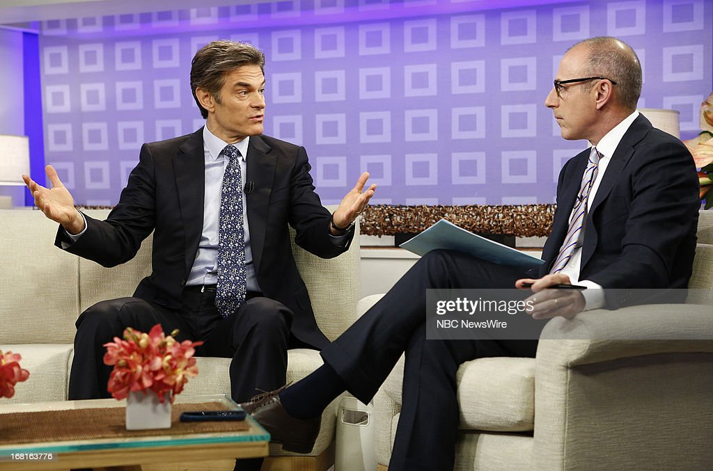 Dr. Mehmet Oz and Matt Lauer appear on NBC News' 'Today' show --
