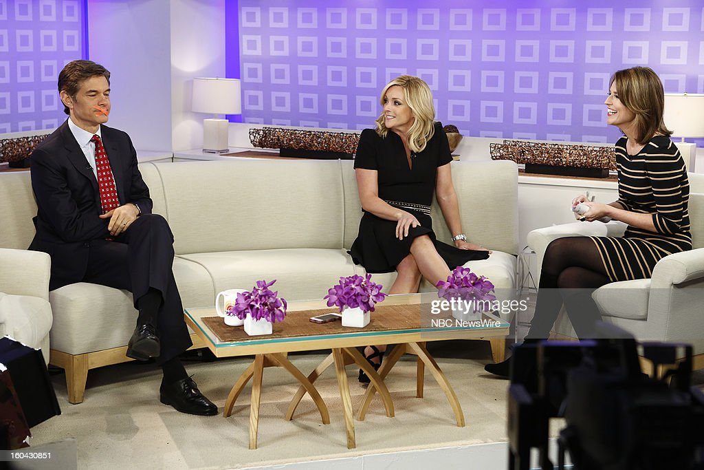 Dr. Mehmet Oz, Jane Krakowski and Savannah Guthrie appear on NBC News' 'Today' show --