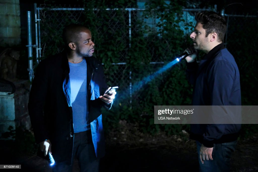 Dule Hill as Burton 'Gus' Guster, James Roday as Shawn Spencer --