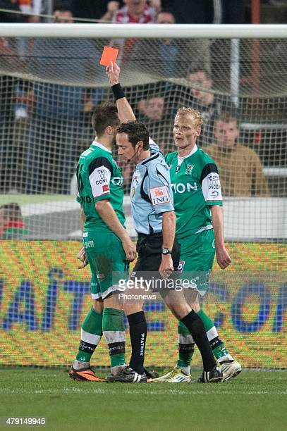 pictured during the Jupiler League match between Raec Mons and Oud Herverlee Leuven on March 16 2014 in Mons Belgium