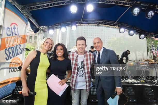 Dylan Dreyer Sheinelle Jones Charlie Puth and Matt Lauer on Friday June 30 2017