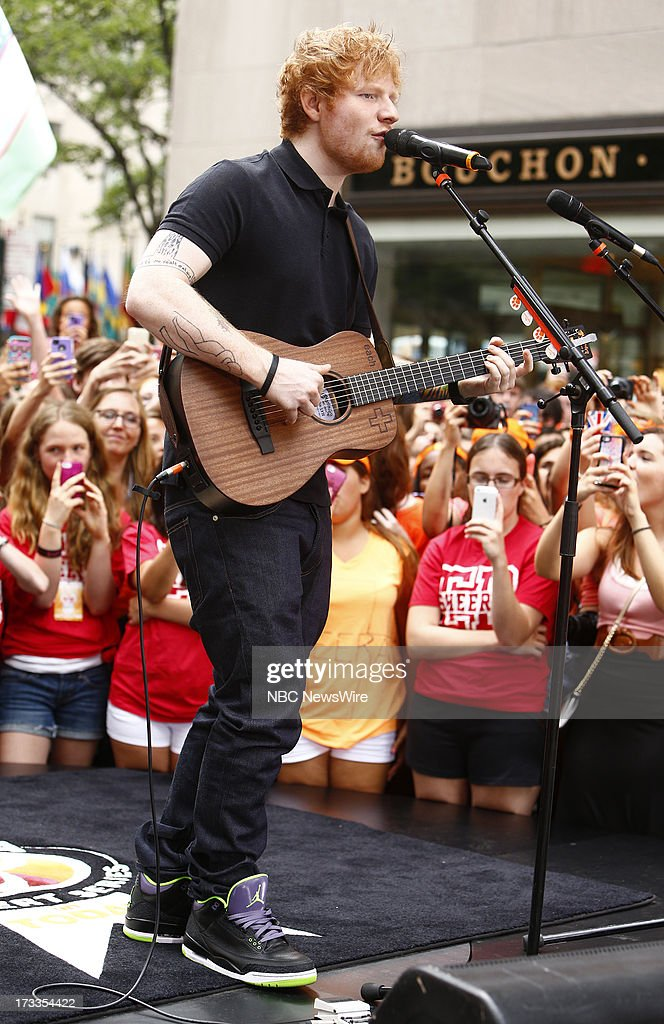 Ed Sheeran appears on NBC News' 'Today' show --