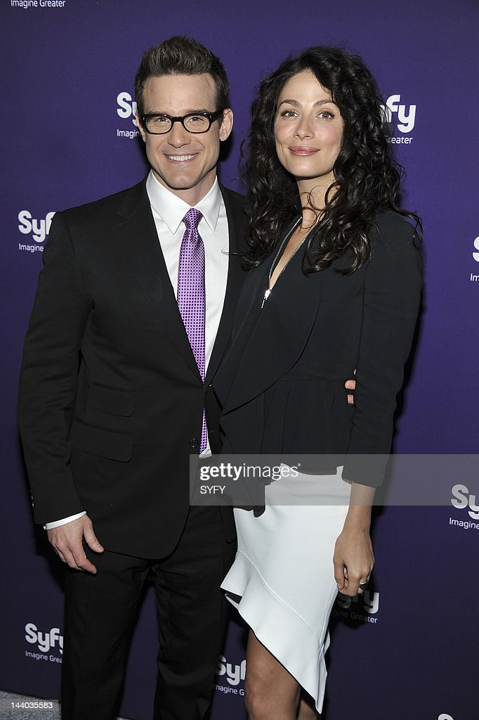 <a gi-track='captionPersonalityLinkClicked' href=/galleries/search?phrase=Eddie+McClintock&family=editorial&specificpeople=2083765 ng-click='$event.stopPropagation()'>Eddie McClintock</a> and <a gi-track='captionPersonalityLinkClicked' href=/galleries/search?phrase=Joanne+Kelly&family=editorial&specificpeople=630347 ng-click='$event.stopPropagation()'>Joanne Kelly</a> arrive at 'Syfy Upfront 2012 at the American Museum of Natural History in New York City on April 24, 2012' --