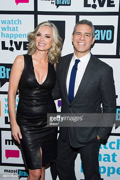 Eileen Davidson and Andy Cohen