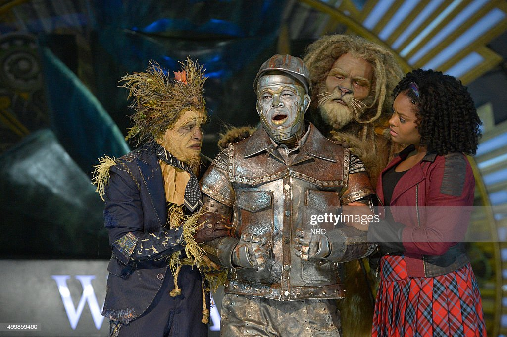 Elijah Kelley as Scarecrow, Ne-Yo as Tin-Man, David Alan Grier as Lion, Shanice Williams as Dorothy --