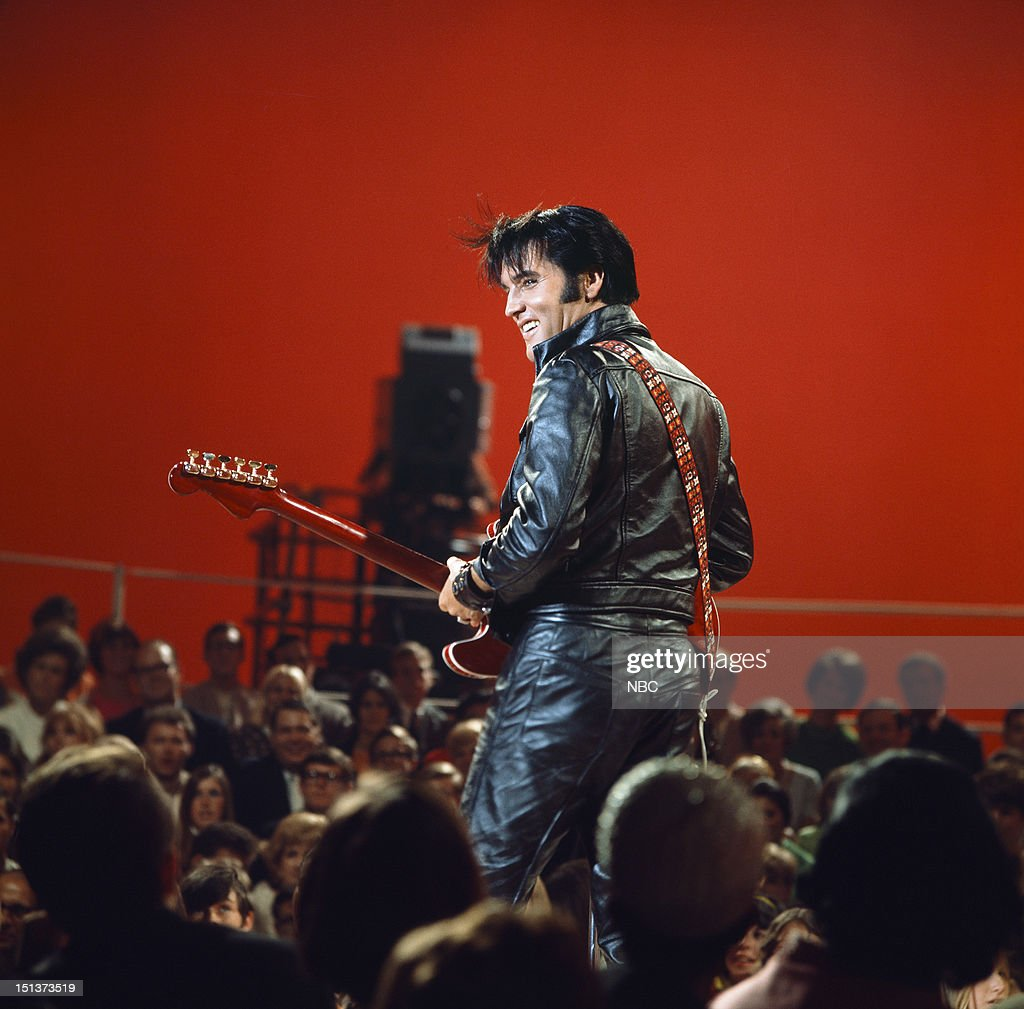 '68 COMEBACK SPECIAL -- Pictured: <a gi-track='captionPersonalityLinkClicked' href=/galleries/search?phrase=Elvis+Presley&family=editorial&specificpeople=67209 ng-click='$event.stopPropagation()'>Elvis Presley</a> during his '68 Comeback Special on NBC --