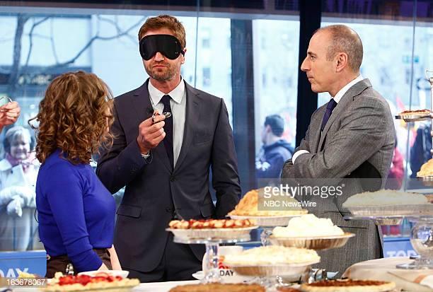 Emily Fleischaker Gerard Butler and Matt Lauer appear on NBC News' 'Today' show