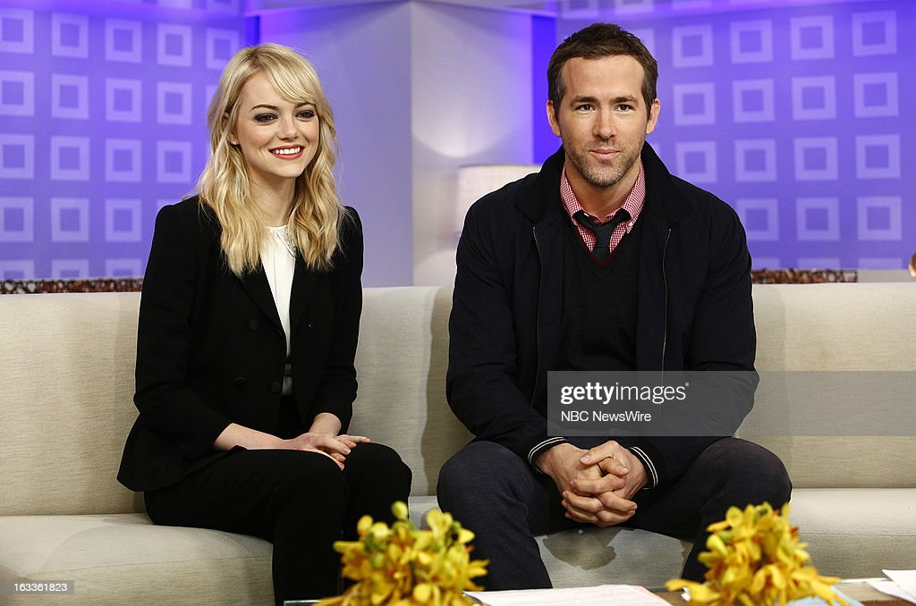 <a gi-track='captionPersonalityLinkClicked' href=/galleries/search?phrase=Emma+Stone&family=editorial&specificpeople=672023 ng-click='$event.stopPropagation()'>Emma Stone</a> and <a gi-track='captionPersonalityLinkClicked' href=/galleries/search?phrase=Ryan+Reynolds&family=editorial&specificpeople=204149 ng-click='$event.stopPropagation()'>Ryan Reynolds</a> appear on NBC News' 'Today' show --