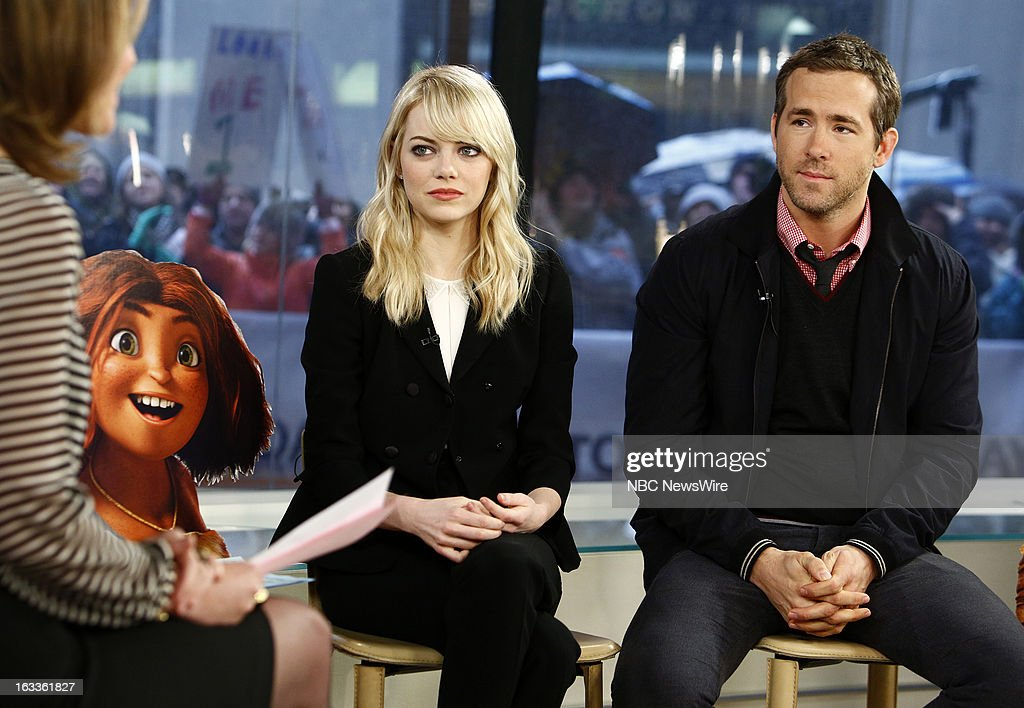 Emma Stone and Ryan Reynolds appear on NBC News' 'Today' show --