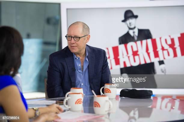 """Emmy winner James Spader visits TODAY to talk about """"The Blacklist"""" in which he plays the infamous criminal James """"Red"""" Reddington on Tuesday April..."""