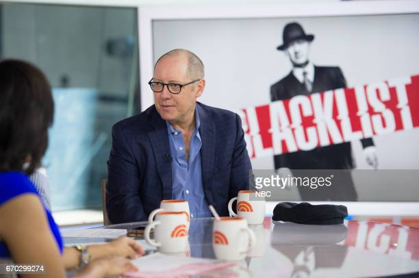 Emmy winner James Spader visits TODAY to talk about The Blacklist in which he plays the infamous criminal James Red Reddington on Tuesday April 18...