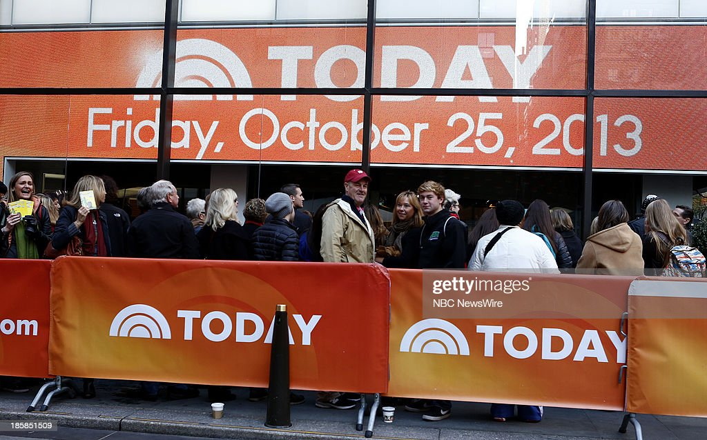 Fans appear on NBC News' 'Today' show --