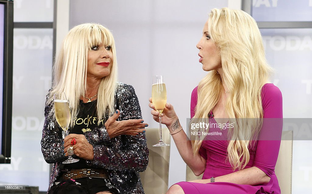 Fashion designer Betsey Johnson and daughter <a gi-track='captionPersonalityLinkClicked' href=/galleries/search?phrase=Lulu+Johnson&family=editorial&specificpeople=852259 ng-click='$event.stopPropagation()'>Lulu Johnson</a> appear on NBC News' 'Today' show on May 10, 2013 --