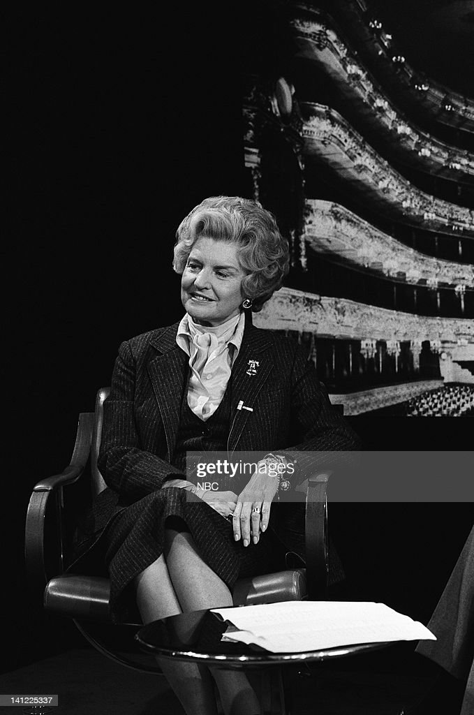First Lady <a gi-track='captionPersonalityLinkClicked' href=/galleries/search?phrase=Betty+Ford&family=editorial&specificpeople=125160 ng-click='$event.stopPropagation()'>Betty Ford</a> during a promo in 1977 -- Photo by: NBCU Photo Bank