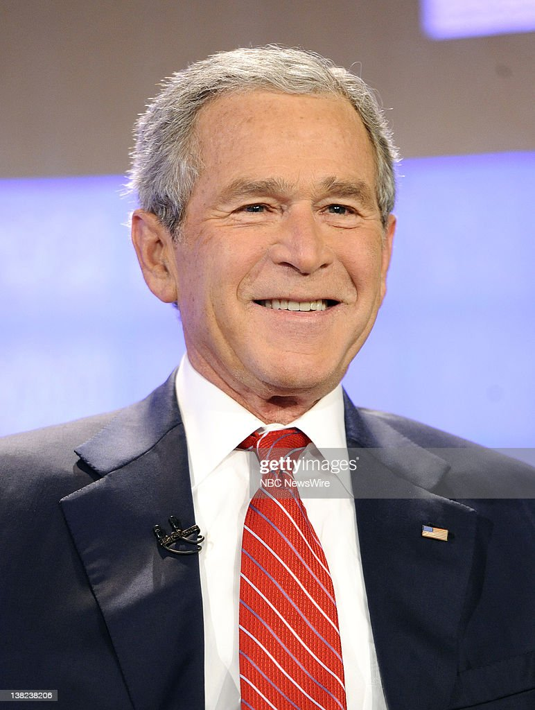 Former president George W Bush appears on NBC News' 'Today' show