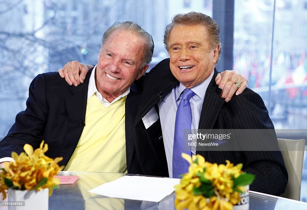 Frank Gifford and Regis Philbin appear on NBC News' 'Today' show -- Photo by: Peter Kramer/NBC/NBC NewsWire