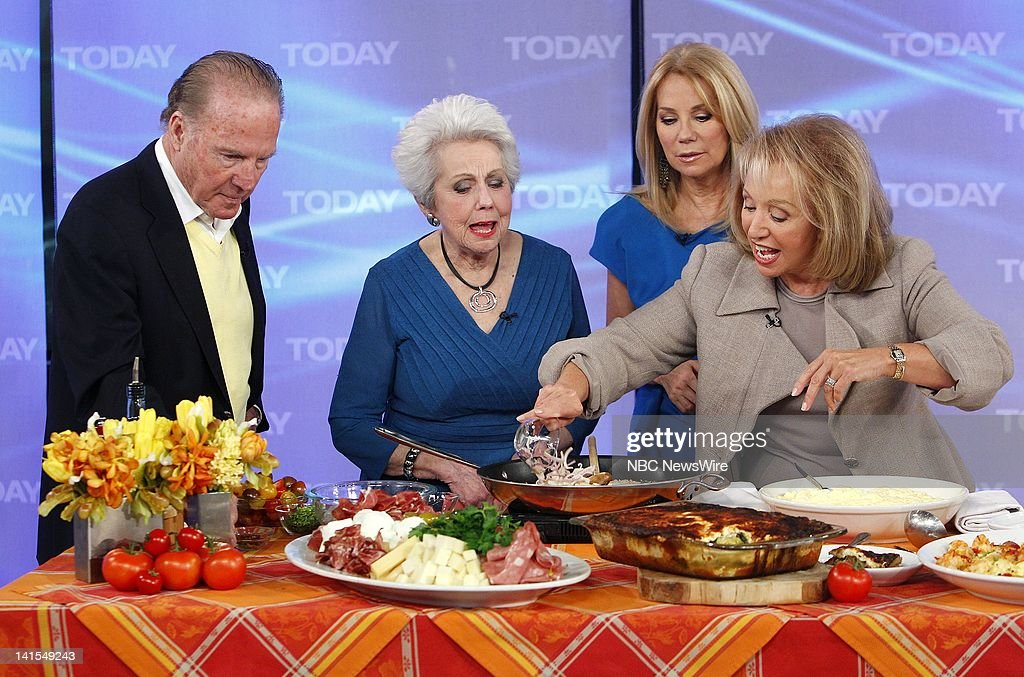Frank Gifford, Joan Epstein, Kathie Lee Gifford and Marion Scotto appear on NBC News' 'Today' show -- Photo by: Peter Kramer/NBC/NBC NewsWire