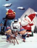 Front Row Hermey Rudolph Head Elf Yukon Cornelius Sam the Snowman Santa Claus