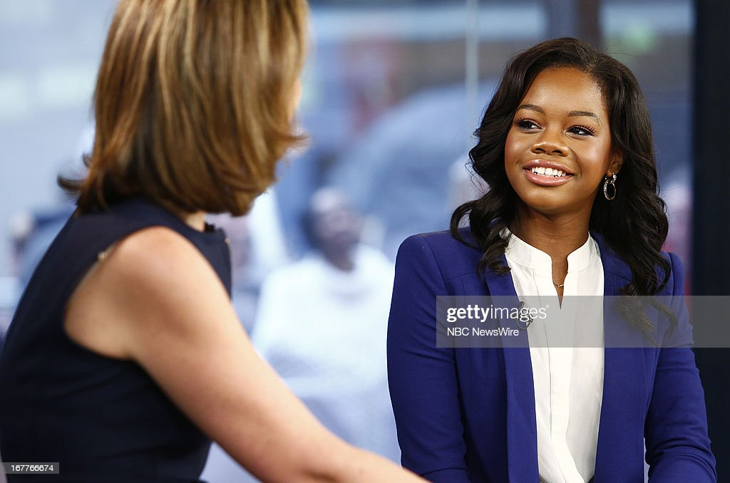 <a gi-track='captionPersonalityLinkClicked' href=/galleries/search?phrase=Gabby+Douglas&family=editorial&specificpeople=8465211 ng-click='$event.stopPropagation()'>Gabby Douglas</a> appears on NBC News' 'Today' show --