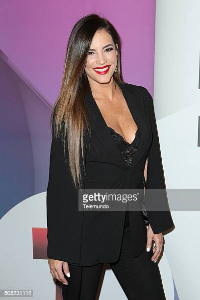 Gaby Espino at the Billboard and Telemundo press conference on February 3 where the finalists for the 2016 Billboard Latin Music Awards were announced