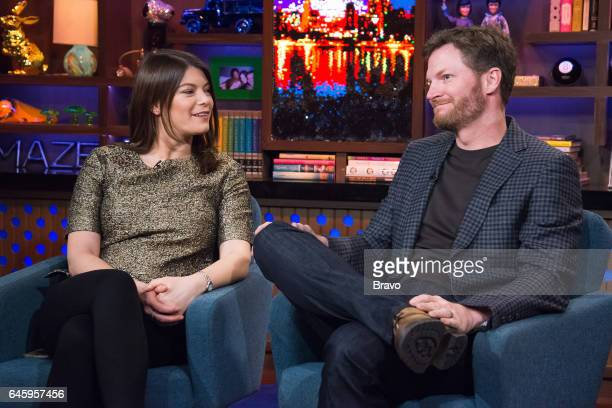 Gail Simmons and Dale Earnhardt Jr