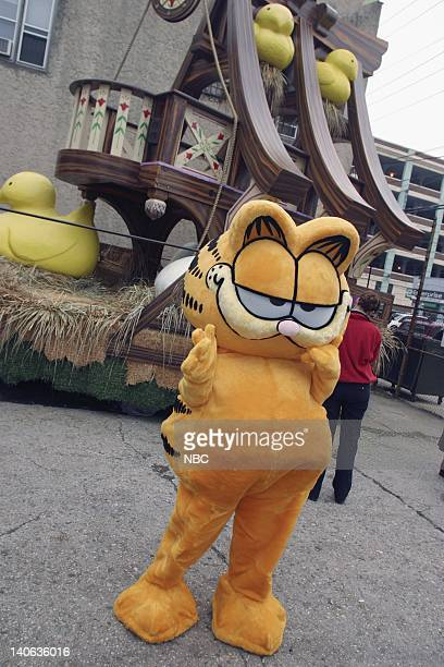 S 77TH THANKSGIVING DAY PARADE MACY'S STUDIO Pictured Garfield at Macy's Studio in Hoboken NJ prior to the 2003 Macy's Thanksgiving Day Parade Photo...
