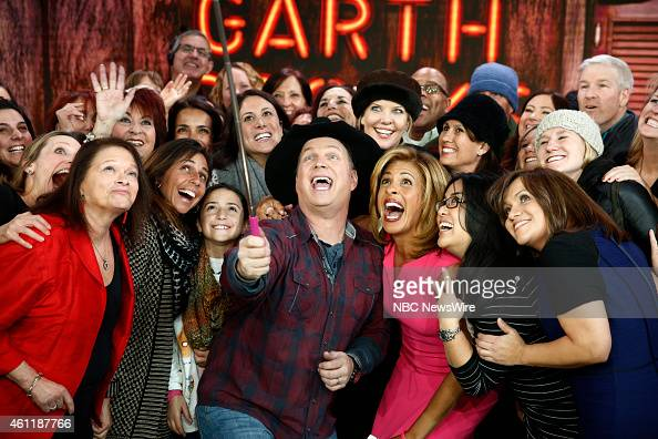 Garth Brooks and Hoda Kotb appear on NBC News' 'Today' show