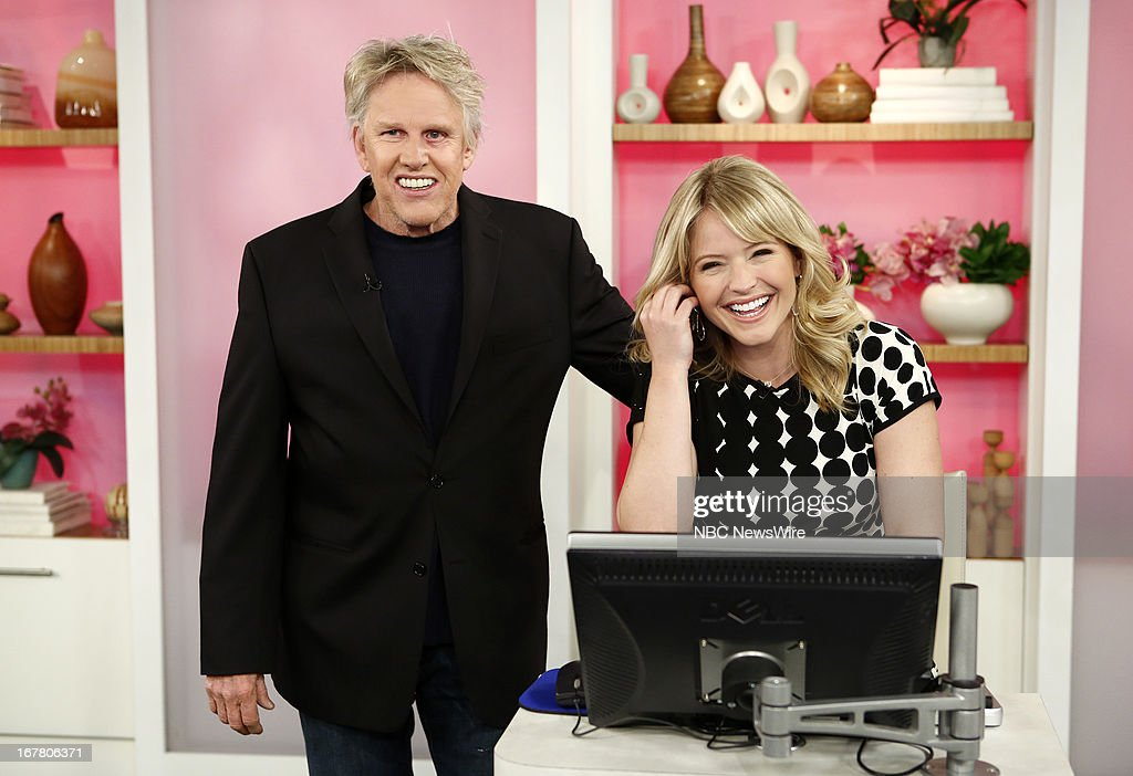 Gary Busey and Sara Haines appear on NBC News' 'Today' show --