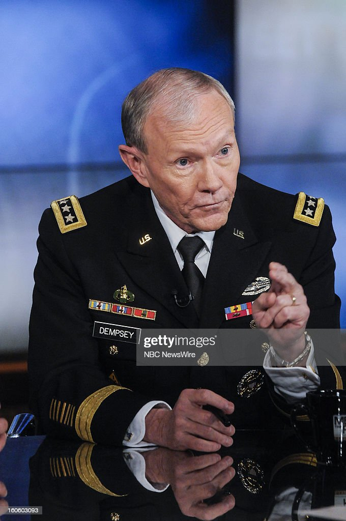 – Gen. Martin Dempsey, Chairman of the Joint Chiefs of Staff, appears in a pre-taped interview on 'Meet the Press' in Washington D.C., Friday, Feb. 1, 2013.