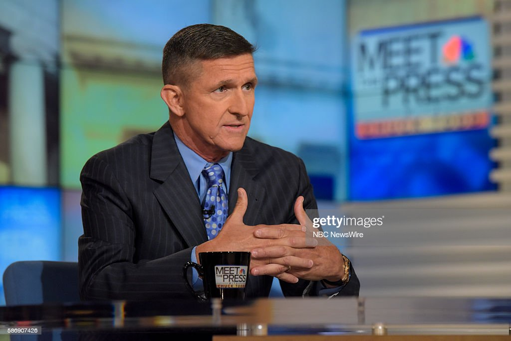 General Michael Flynn appears on 'Meet the Press' in Washington DC Sunday August 7 2016