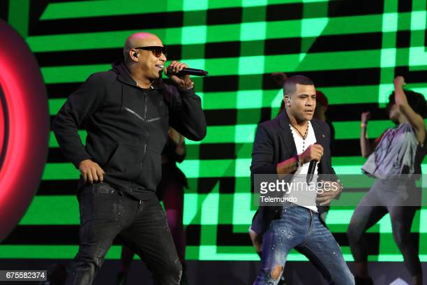 Gente de Zona perform during rehearsals at the Watsco Center in the University of Miami Coral Gables Florida on April 25 2017