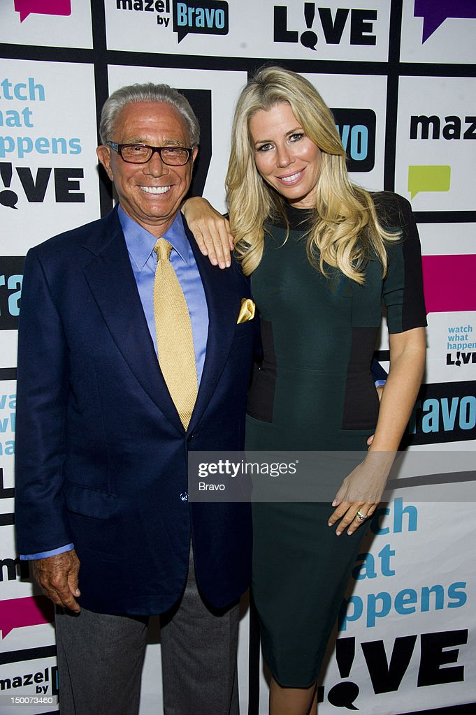 George Teichner, <a gi-track='captionPersonalityLinkClicked' href=/galleries/search?phrase=Aviva+Drescher&family=editorial&specificpeople=8624423 ng-click='$event.stopPropagation()'>Aviva Drescher</a> -- Photo by: Charles Sykes/Bravo/NBCU Photo Bank via Getty Images