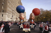 George Washington and Benjamin Franklin caricatures during the 1996 Macy's Thanksgiving Day Parade Photo by NBCU Photo Bank